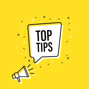 top tips with microphone