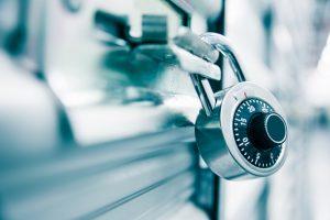 lock on a storage unit